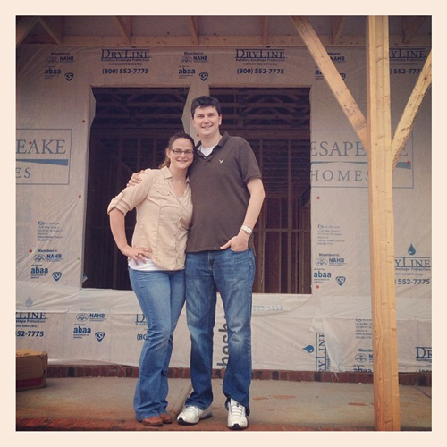 Derek and I built a house together in 2013.