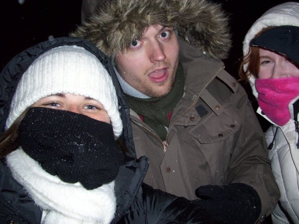 Goofing off with my friends in Chicago in 2008. I must go visit again soon.