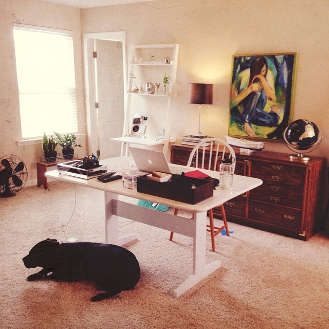 My home office. Also a work in progress.