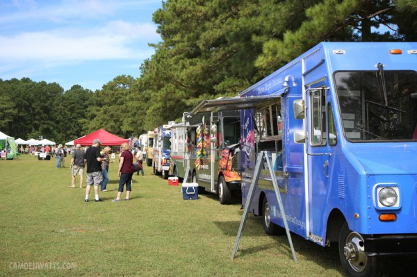 Great line up of food trucks.