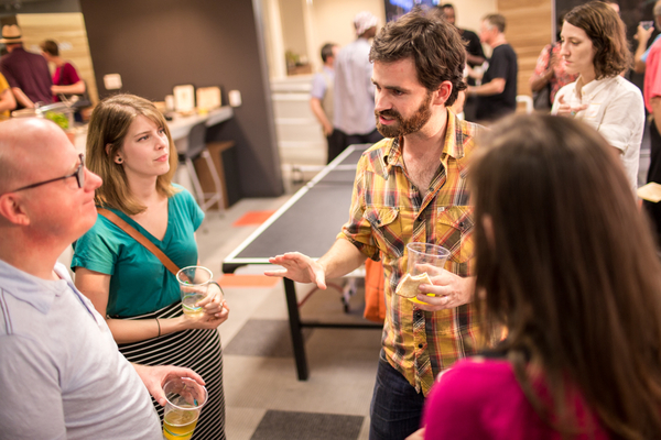 TriFilm Society social at Myriad Media (August 2014). © 2014 Alex Boerner Photography | alexboerner.com
