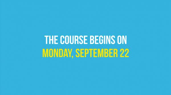 course begins sept 22