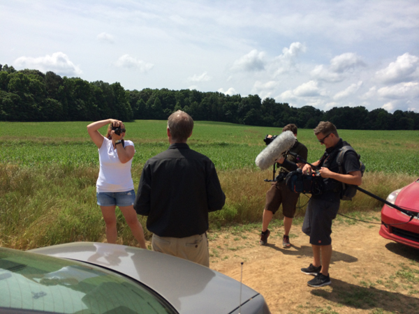 Behind-the-scenes photo from our Brewconomy shoot at Farm Boy Farms in June 2014. Photo by Shane Johnston.