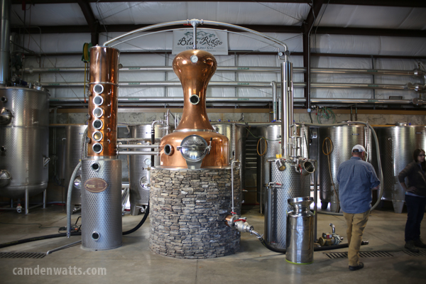 The distillery at Defiant Whisky is gorgeous.