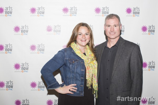 Shane Johnston, executive producer of Brewconomy, and me at the premiere of the film. Photo via ArtsNow NC.