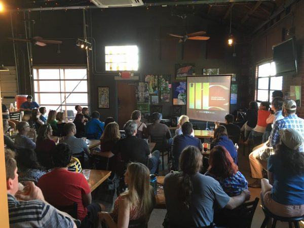 Brewconomy screening at NoDa Brewing Company organized by the Levine Museum of the New South on Tuesday, May 24, 2016.