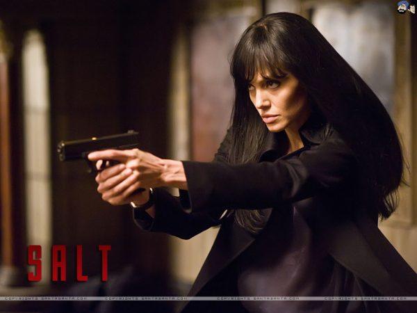 Angelina Jolie as Salt.